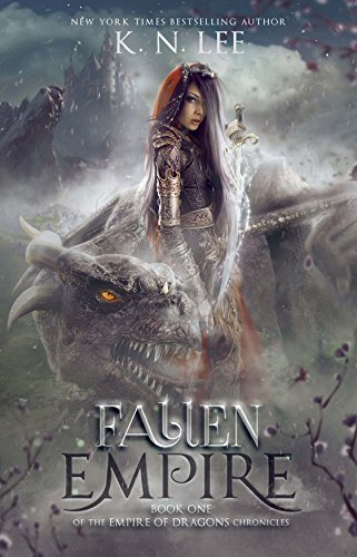 Fallen Empire cover - book with dragons