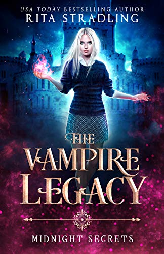 Midnight Secrets (The Vampire Legacy Book 1) - cover of a book with vampires